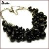 acrylic beaded black choker necklace jewelry KL-NL-W-1749-J