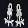 costume 925 sterling silver earring with yellow flower factory and manufacture QFE050