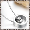 Lovely fashion pendant necklace made of 316L stainless steel necklace with pendant 4-leaf clover lady necklace