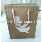 2012 New Design Linen material Shopping Bag