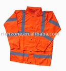 high visibility reflective safety jacket with mesh lining