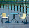 outdoor leisure rattan chair and glass table furniture