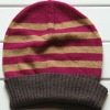 Striped knitted beanie hat