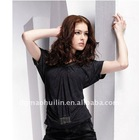 2012latest short sleeve ladies V neck t shirt9334