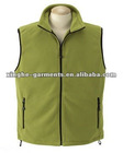 Men's sleeveless plain polar fleece vest
