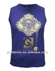 men's sports vest with printing