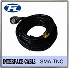 Low loss antenna cable RG58 TNC male to SMA male 2M 50 ohm impedance