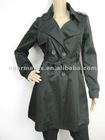 Ladies Formal Long Polyester Jacket Trench Coat
