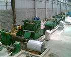 Steel slitting, recoiling and cutting line