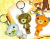 Bear shaped LED key chain promotion gift