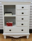 White Wooden cabinet with 4 drawers