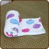 coral fleece plaid,microfibre fleece blanket,coral fleece throw,roll up blanket