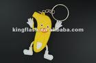 banana shape keychain usb 2.0 flash drive