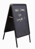 aluminum snap frame chalkboard with round corners