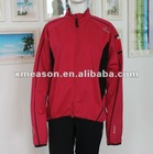 Red cycling jacket for woman