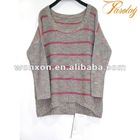 classial sweater knitwear for women pink strip