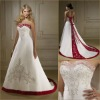 ML0097 Embroidered Satin Sweetheart Wedding Gown