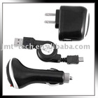 USB Cable+Car+Wall Charger fits for Blackberry Curve 8900