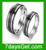 Fashion Titanium Steel Simple Love Couples Ring