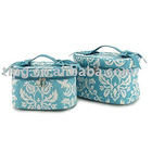 Monogrammed Damask cosmetic sets,professional cosmetic case,hanging cosmetic cases