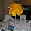 Dyed Ostrich Feather Centerpieces For wedding tables