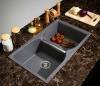 2012 New Patent Granite Wash Basin With Middle Steel Plate VO-GS21