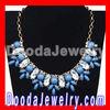 Vintage Crystal Resin Beads Rhinestone Flower Statement Bib Necklace