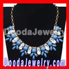 Vintage Crystal Resin Beads Rhinestone Flower Statement Bib Necklace
