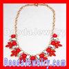 2012 hot sale Red Rhinestone Crystal Flower Choker collar Bib Necklaces