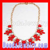 2012 hot sale Red Rhinestone Crystal Flower Choker collar Bib Necklaces
