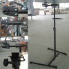 black iron adjustable bike stand
