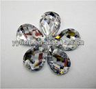 Loose faceted tear drop shape acrylic rhinestone flat back beads!Wholesale price!