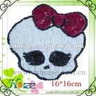 skull shape chiffon rose garment accessories