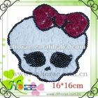 skull shape chiffon rose garment accessories