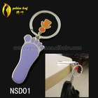 newest foldable nail-scissor design hold 9 kg keychain bag stand holder NSD01