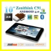 "2012 hot wholesale 10.2"" zenithink zt280 c91 upgrade cortex A9 capacitive android 4.0 8GB HDD 1GB RAM tablet pc / lyoson Tablet"