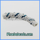 Wholesale New Design Clay Shamballa Tube Beads Curved Pave Crystal Rhinestone Jewelry Bracelet Accessories Findings CTB-035