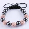 fashion Rhinestone 10mm(5pss) Crystal Beads Macrame shamballa Bracelet