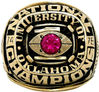 University of Oklahoma national championship rings (R108052)