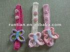 2012 Beautiful 100%Cotton Crocheted Girl's Butterfly headbands