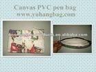 Canvas PVC pen bag