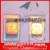 Highly anti-faking adhesive tamper proof packaging holographic sticker