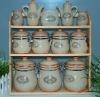 set of 12 sealed canister, food canister, ceramic jar, kitchen set
