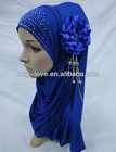 latest design Muslim hijab islamic hijab with flower SYF013