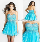 2012 new arrival short jeweled beads on the bodice open-back holiday dress OLC087