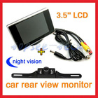 "Hot selling car rear view camera system 3.5"" car monitor +licence plate camera"