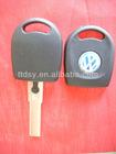 VW key shekk .High quality replacement VW labling transponder key shell