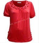 fashion tshirt with beaded designs