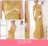 V-neck All Sequins Spaghetti Strap With Sash Open Back Prom Dress Sexy Party Gown