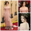 Off Shoulder Chiffon and Lace Popular Anna Kendrick Oscar 2010 Celebrity Evening Dress